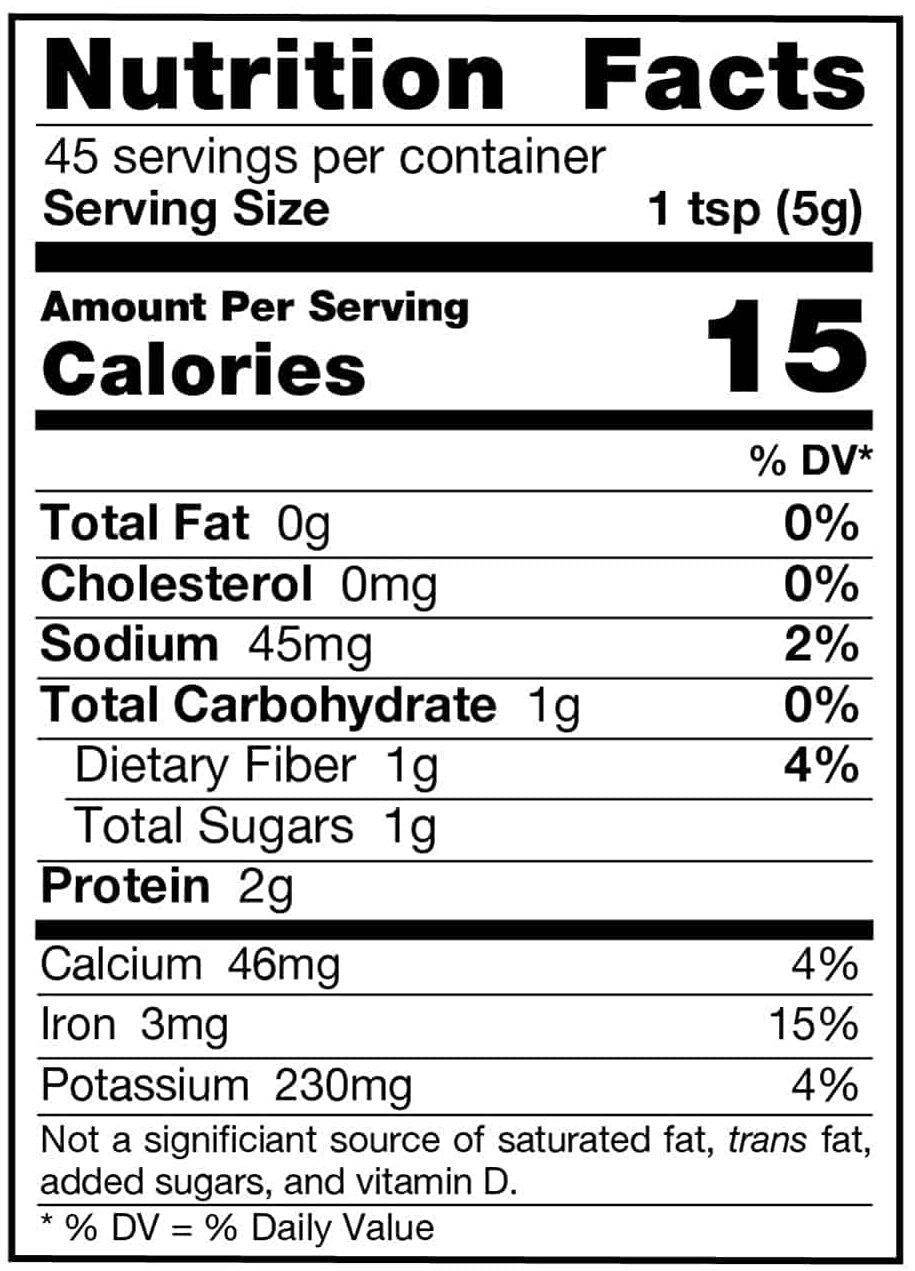 Wheat Grass Juice Powder Nutrition