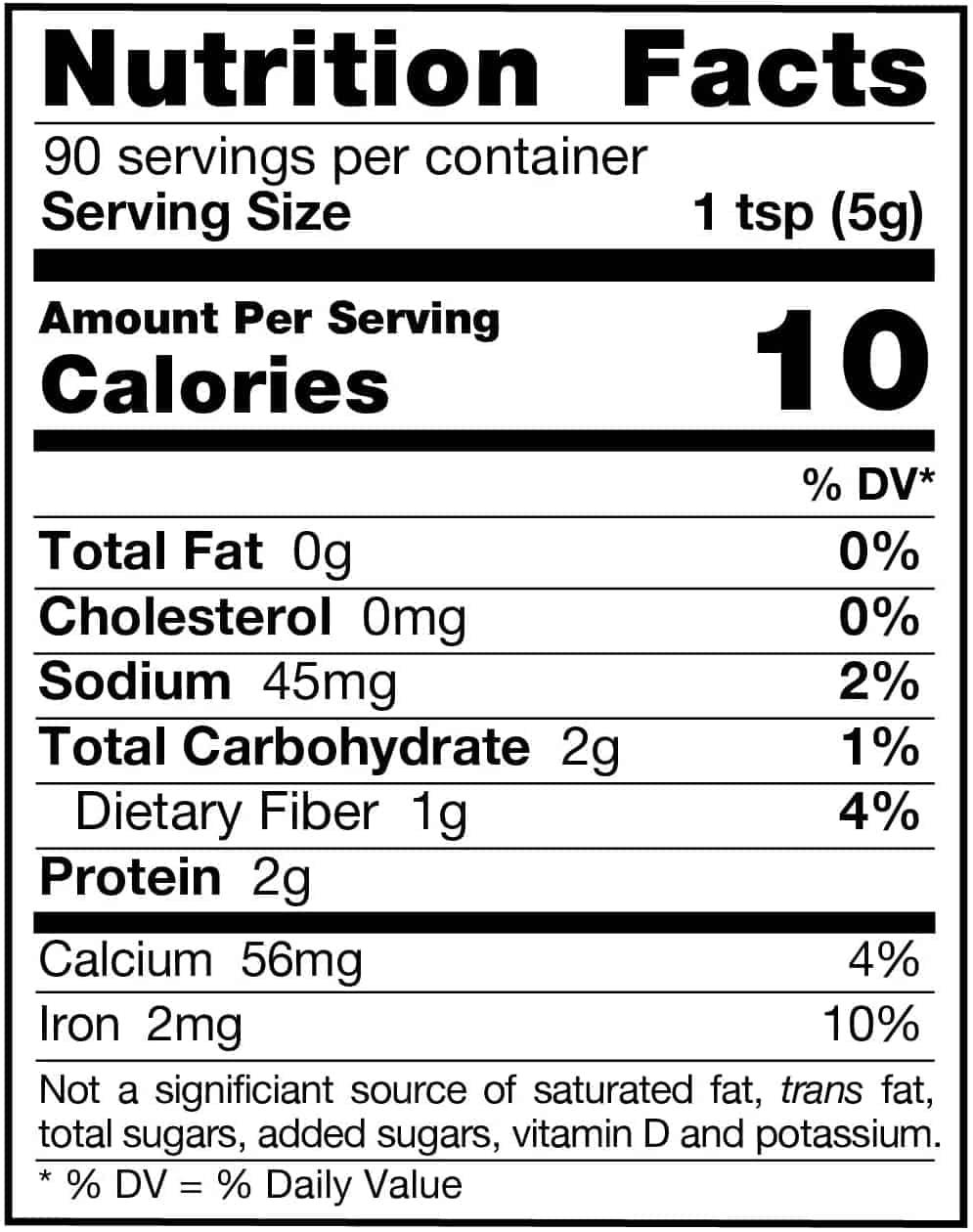 Spinach Powder Nutrition