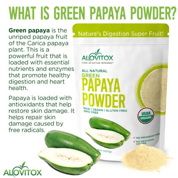 Green Papaya Powder 8oz 05a