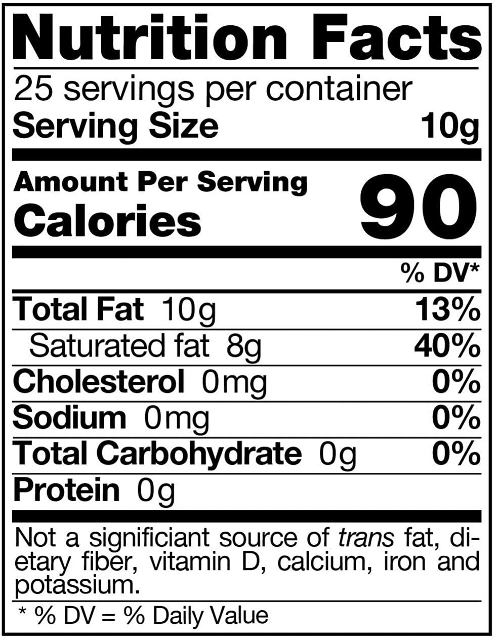 Grass-Fed Organic Ghee Butter Nutrition