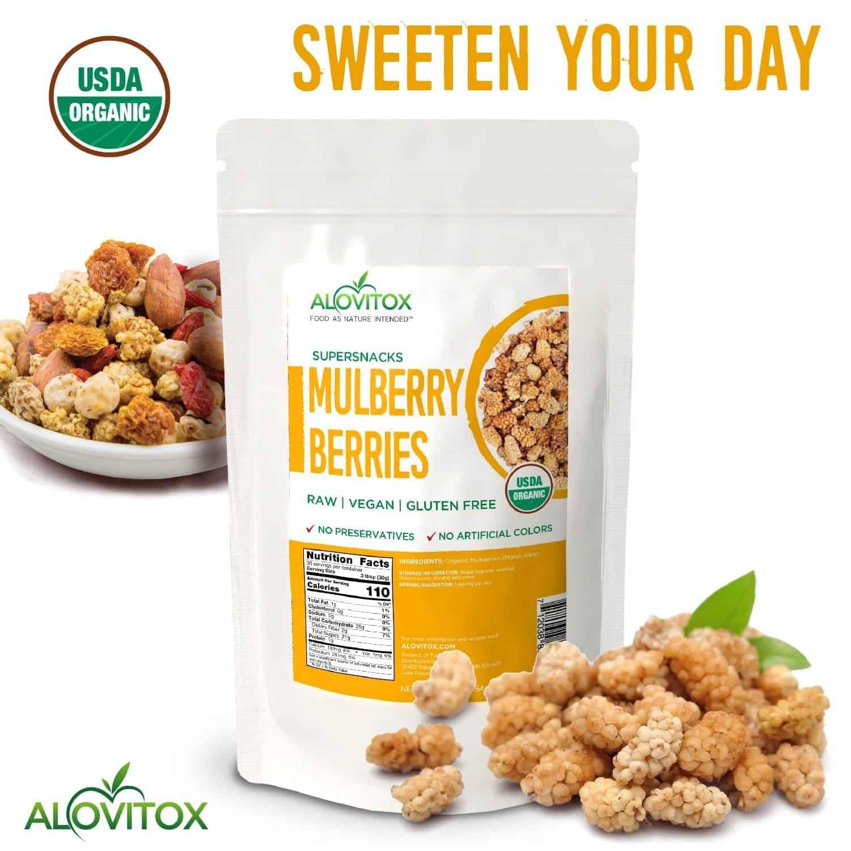 Organic White Mulberries